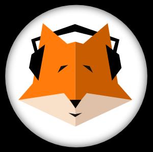 Fuchs mit Kopfhörer